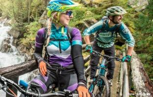 Billede af mand og kvinde som cykler mountainbike