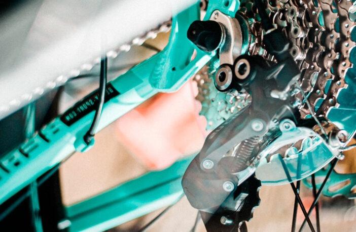 Billede af gearddrop på en mountainbike