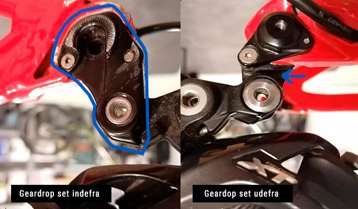 Billede af geardrop til mtb