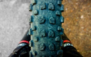 Billede af skævt mtb dæk